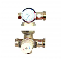 Blending Valve and Water Mixer with Thermostatic Control For Manifold