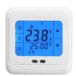 Extra Load LCD Touch Screen Thermostat (Floor & Air Sensing Thermostat) 30 Amps