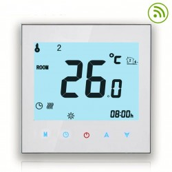 LCD Wifi Touch Screen Thermostat - WiFi Connection (16A, White)