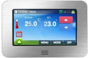 Underfloor Heating Thermostat Big Colour Touch Screen 4.3inch (Floor & Air Sensing Thermostat)
