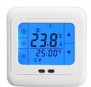LCD Touch Screen Thermostat (Floor & Air Sensing Thermostat) 16a